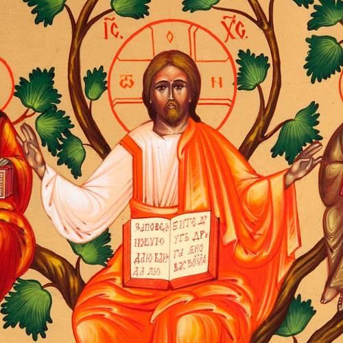 Cristo, la Vid verdadera - Icono ruso